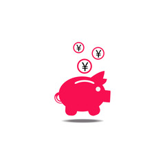 Pig of money box yen