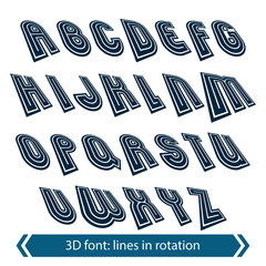 Dimensional shift letters with rotation effect, creative geometr