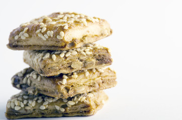 Bisquits over white background - Still life - food