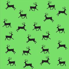 Beaded Christmas ornament reindeer. vector