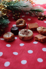 dulces y caramelos en navidad