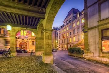 Old city, Geneva, Switzerland,  HDR
