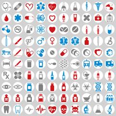 100 medical icons set.