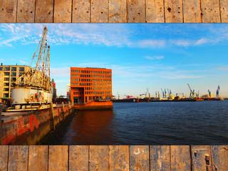 Elbe in Hamburg - Sonnenuntergang