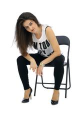kobieta na krześle