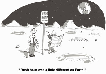 """""""Rush hour was a little different on Earth."""""""