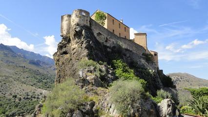 Le château de la citadelle de Corte (Haute-Corse)