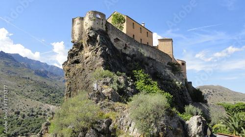 Fotobehang Vestingwerk Le château de la citadelle de Corte (Haute-Corse)