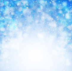Blue christmas abstract background.