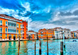 View of the Main Canal at Venice Italy. HDR processed