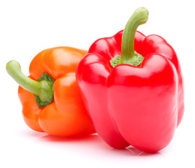 Sweet bell pepper isolated on white background cutout