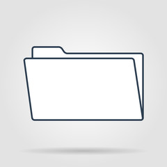 folder blue flat web icon