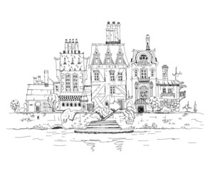 Abstract city view, Sketch collection