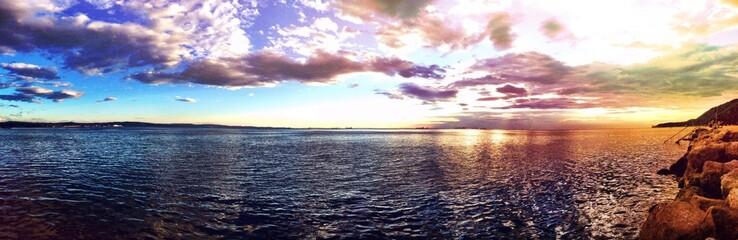 stunning sunset in Trieste Italy