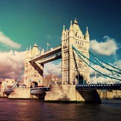 Tower bridge nostalgic view in London