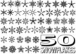 Snowflake Set - 50 Illustrations