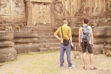 Tourist and Monkey