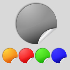 Set of blank colourful web buttons for website or app.