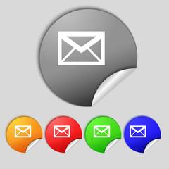 Mail icon. Envelope symbol. Message sign. navigation button Set