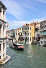 Grand Canal in Venice from Rialto Bridge