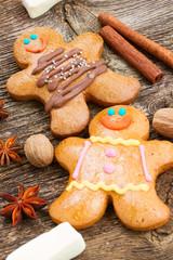 gingerbread men close  up