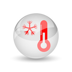 Snowflake with thermometer icon