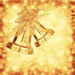 Golden Christmas jingle bells