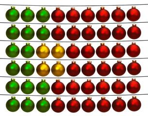 Christbaumkugeln in den Farben der Portugiesischen Flagge