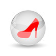 canvas print picture - High heel icon