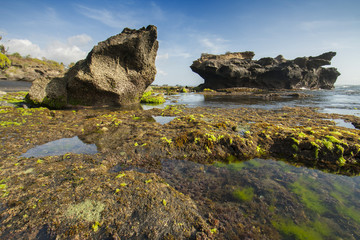 Beautiful rocky beach Bali Indonesia