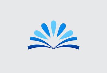 book abstract blue design logo