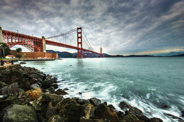 Golden Gate Bridge after raining
