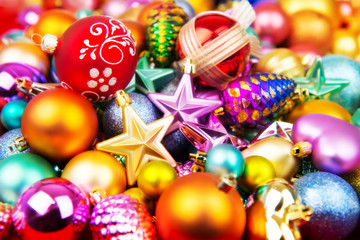 Christmas toys decorations background