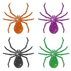 Glittering Spiders