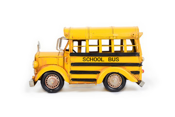 Retro school bus model.