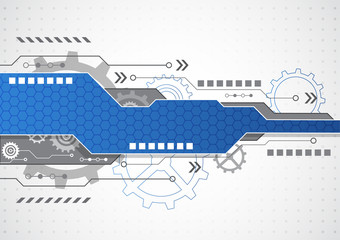 New technology business background, vector illustration