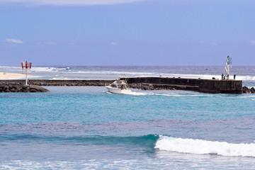 passe du port de plaisance de Saint-Gilles, Réunion