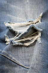 denim jeans blue old torn with fashion design