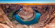 Leinwanddruck Bild - Panorama of Horseshoe Bend Canyon, Page, Arizona, USA