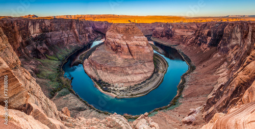 Panorama of Horseshoe Bend Canyon, Page, Arizona, USA - 73188016