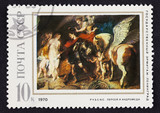 USSR postage stamp Perseus and Andromeda by Rubens poster