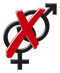 Gender Geschlechter Paare unerwünscht 3D Vektor