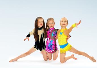 group of children acrobats