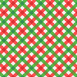 Christmas red and green gingham fabric with seamless pattern
