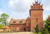 Fototapeta The medieval castle in Olsztynek, Poland - today a school