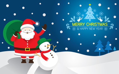 Santa, Snowman, Background