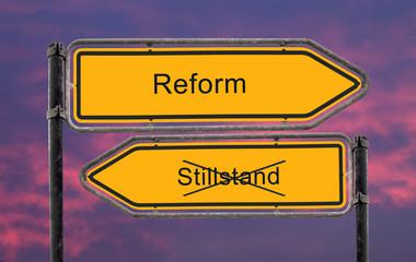Strassenschild 22 - Reform