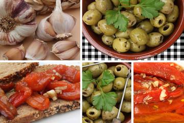Ail  Huile d'Olive : Olives vertes - Poivron mariné