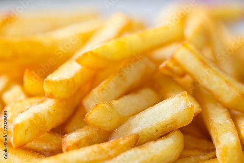 Poster assiette de frites