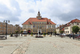 Town Hall & Market Square in Olsztynek, Poland